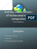 End-life behavior of incinerated nanoparticles