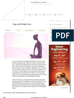 Yoga and Weight Loss