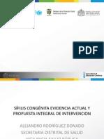 SÍFILIS CONGÉNITA EVIDENCIA ACTUAL Y PROPUESTA INTEGRAL DE INTERVENCION