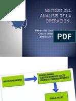 Metodo Del Analisis de La Operacion