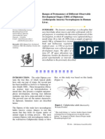 Ranges of Permanency of Different ObservableDevelopment Stages (ODS) of Dipterous(Arthropoda