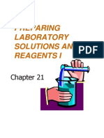 Preparing Laboratory solutions and Reagents