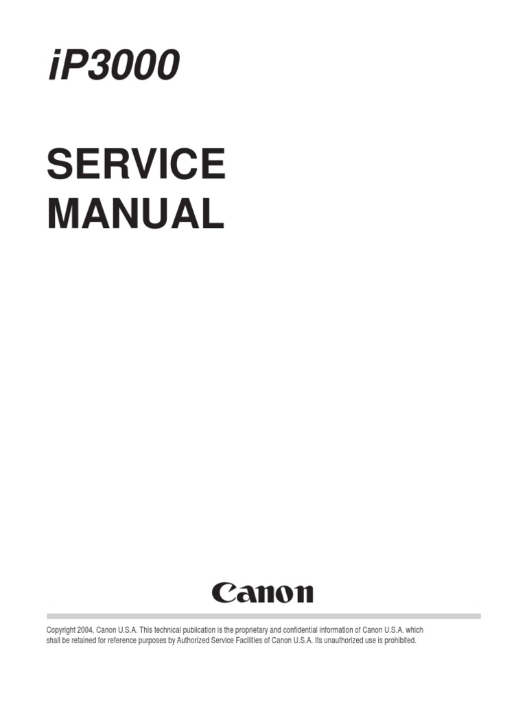 canon pixma ip3000 service manual printer computing printing
