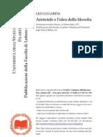 Lugarini - Aristotele e l'Idea Della Filosofia