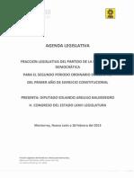 Agenda Legislativa PRD Congreso de Nuevo León LXXIII