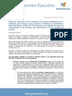 Resumen Ejecutivo del Real Decreto Ley 4/2013