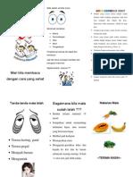 Leaflet Cara Membaca Sehat