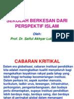Sekolah Berkesan Dari Perspektif Islam