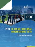 Principales Resultados II CENAUN 2010
