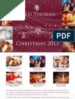 Old Thorns Christmas 2013