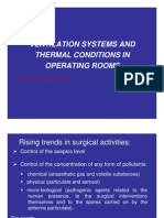 Ventilation Systems and Themal Conditions in Operating Rooms