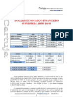 Analisis Economico Financiero Supermercados Dani- Cristina Moreno