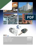 ASSA March 2013 Price Book