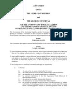 DTC agreement between Norway and Azerbaijan