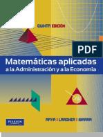 Matematicas Aplicadas a La Administracio - Jagdisc C. Arya