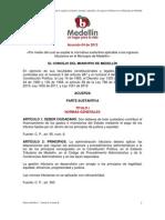 ACUERDO 64 DE 2012 ESTATUTO TRIBUTARIO aprobado por el Concejo de Medellín