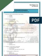 O Cavaleiro da Dinamarca - quest. interp. global escolha múltipla 31 questões (blog7 10-11)