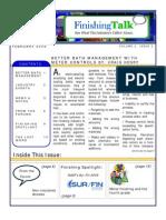 Finishing Talk Newsletter - February  2009