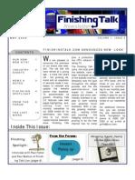 Finishing Talk Newsletter - May 2008