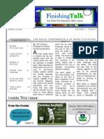 Finishing Talk Newsletter - June 2008