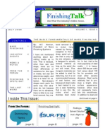 Finishing Talk Newsletter - July 2008
