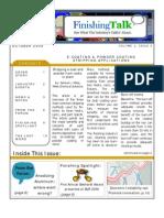 Finishing Talk Newsletter - August 2008