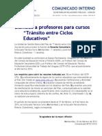 COMUNICADO Nº 011-LLAMADO PROFESORES TRÁNSITO EDUCATIVO-INTERNO.doc