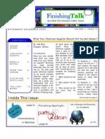 Finishing Talk Newsletter - Nov/Dec 2008