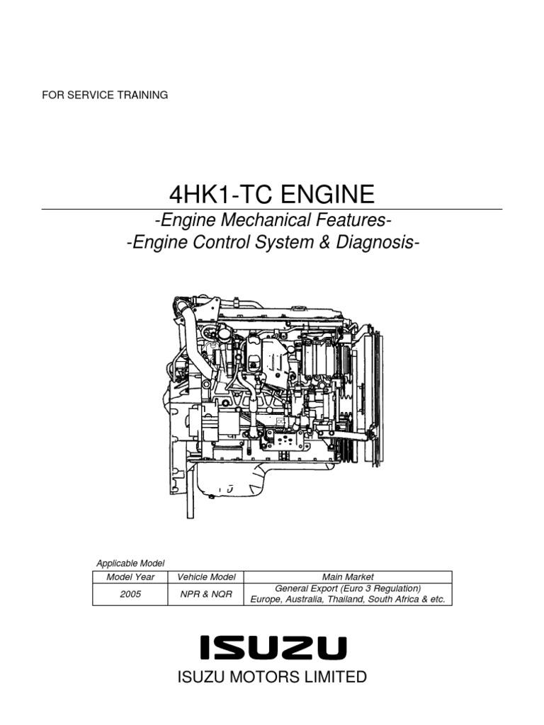 npr manual y diagrama motor isuzu 729 4hk1 training pdf internal rh scribd com Isuzu NPR Diesel Engine Isuzu NPR Diesel Engine