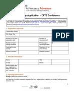 CFTE Scholarship Application