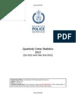 Q4 2012 & Yea Q4 2012 & Year End 2012 BPS Crime Statisticsr End 2012 BPS Crime Statistics