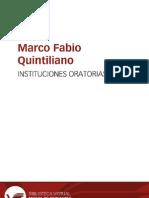 INSTITUCIONES ORATORIAS QUINTILIANO