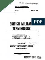 British Military Terminology