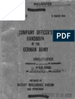 Company Officer's Handbook of the German Army