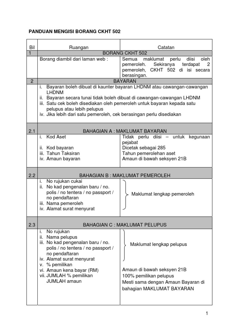 Panduan Mengisi Borang Ckht 502 1