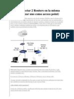 Como Conectar 2 Routers en La Misma Red