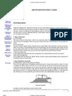Foundations of Aboveground Steel Tanks