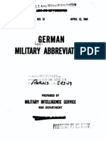 German Military Abbreviations