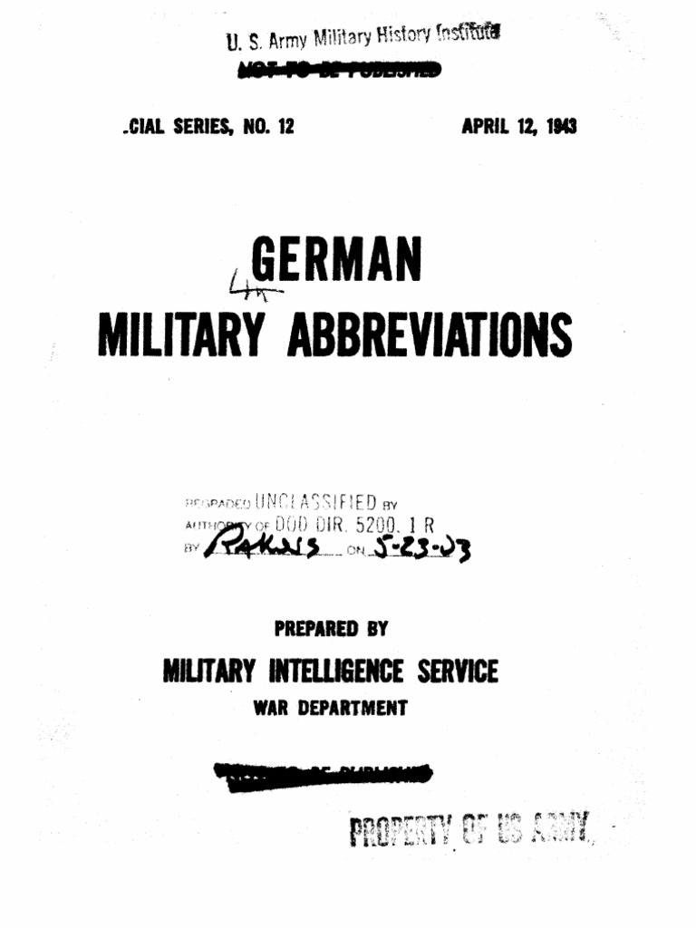 German Military Abbreviations   Artillery   Battalion