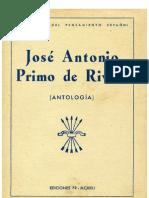 José Antonio Primo de Rivera. Antología (G. Torrente Ballester)