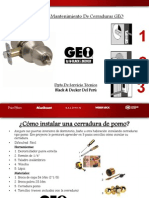 Instalacion y Mantenimiento de Cerraduras GEO