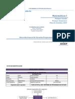 Programa 2009 Matematicas