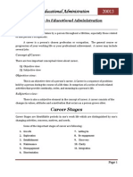 Careers in Educational Administration
