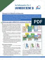 Boletín Informativo No. 1 de PROMECEM 2