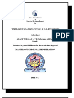 ADANI WILMAR (employee's satisfacation & h.r. funcation)
