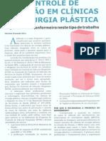 Controle de infecção em clínicas de cirurgia plástica / Infection's Control in plastic surgery clinics