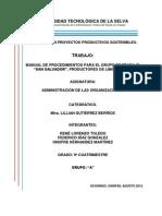 Manual de Procedimientos San Salvador, 9a PPS