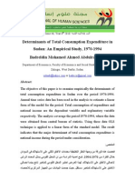 Determinants of Total Consumption in Sudan