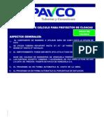 Herramienta de Calculo Para Cloacas Excel 2010