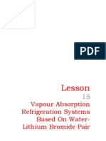 15 Vapour Absorption Refrigeration Systems Based on Water-Lithium Bromide Pair